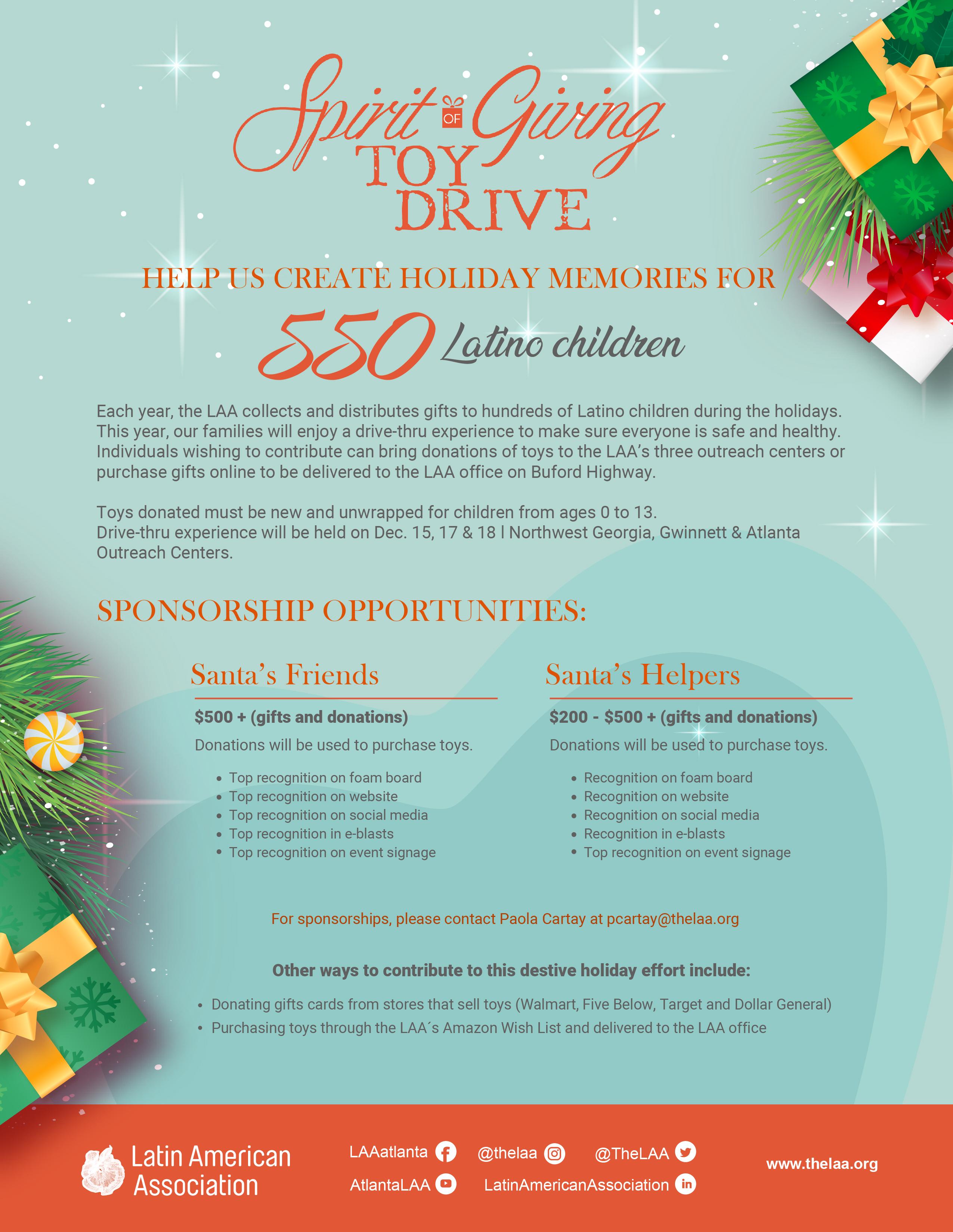 spirit of giving sponsorship package